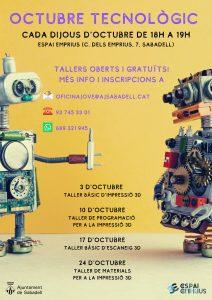 Octubre tecnológico en el Espacio Emprius de Sabadell